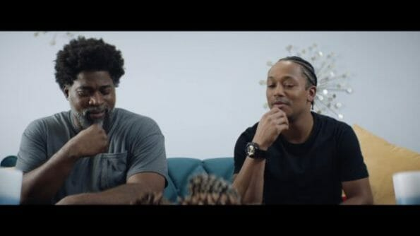 Aaron (David Banner) and Jalen (Romeo Miller) realizing they have similar mannerisms.