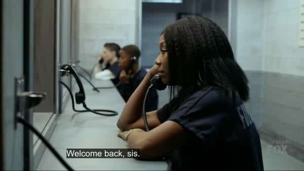 Carlotta visiting Cassie in jail.
