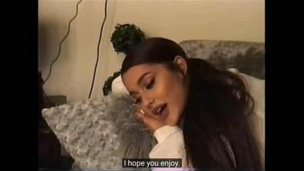 Ariana noting she hopes people enjoy the series.