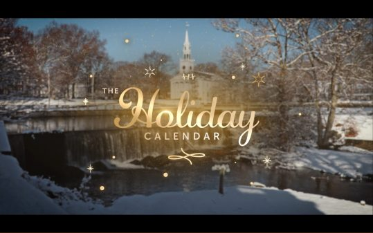 The Holiday Calendar - Title Card