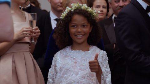 Olivia (Alexa Adeosun) giving the thumbs up