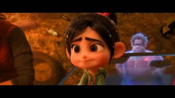 Vanellope (Sarah Silverman) talking about loving Slaughter Race and not wanting to return to Sugar Rush.