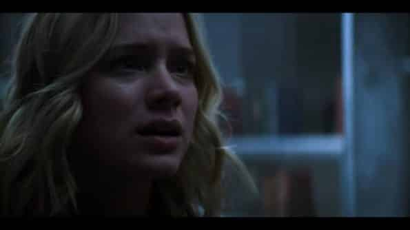 Beck realizing Joe locked her up in a cell.
