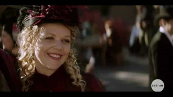 Nancy (Emily Bergl) dressed for the renaissance festival.