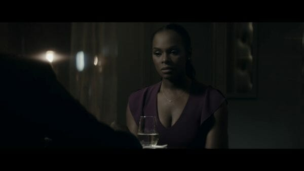 Elizabeth (Tika Sumpter) taking note her mother still refuses to talk to her.