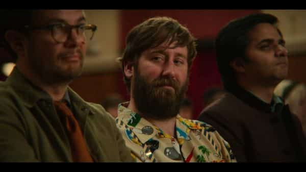 Colin Hendricks (Jim Howick) during an assembly.