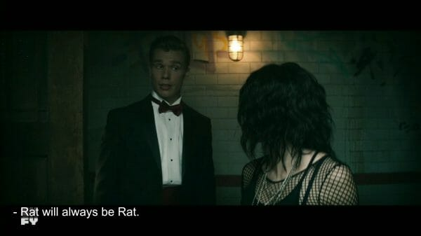 Viktor (Sean Depner) participating in the legacy hazing of rats.