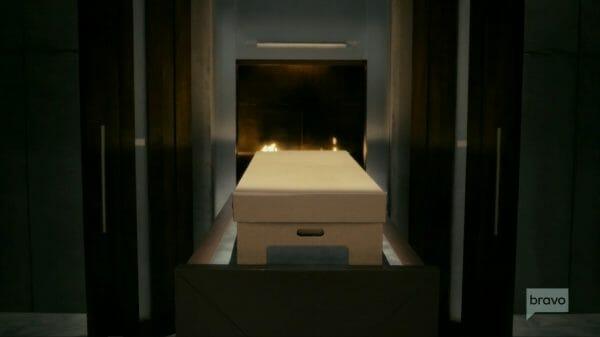 John being cremated.