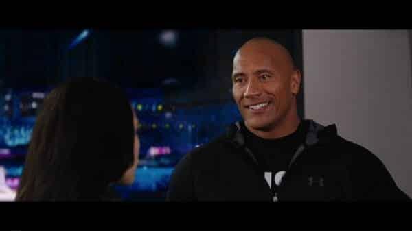 Dwayne The Rock Johnson talking to Soraya during Wrestlemania 30.