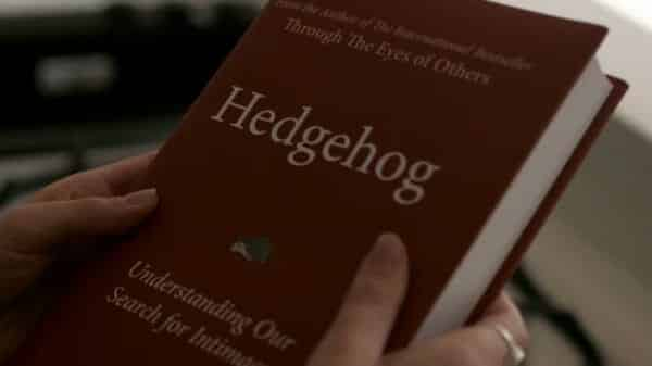 Joan's book named Hedgehog.