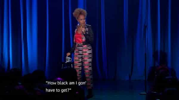 Amanda Seales questioning how Black will she have to get during a situation.