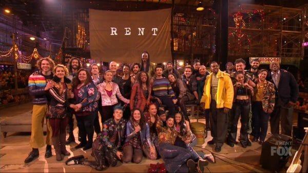 Rent Live cast.