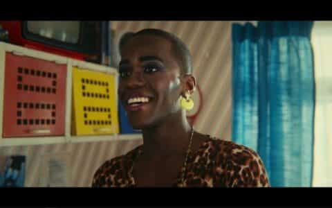 Eric (Ncuti Gatwa) in makeup.