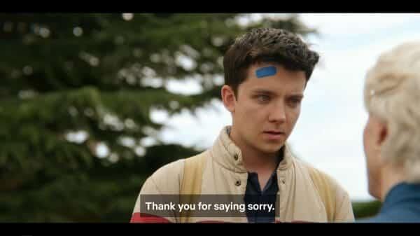 Otis thanking Jean for apologizing.