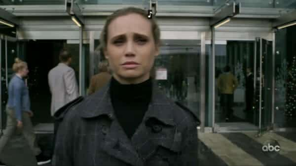 Morgan leaving the hospital after the events of the quarantine looking exhausted.