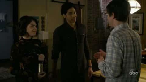 Shaun meeting Jake (Andres Joseph), Lea's new friend.