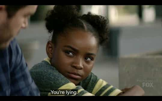 Amy (Saniyya Sidney) accusing Brad of lying to her.