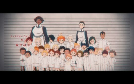 The kids and caretakers of The Promised Neverland.