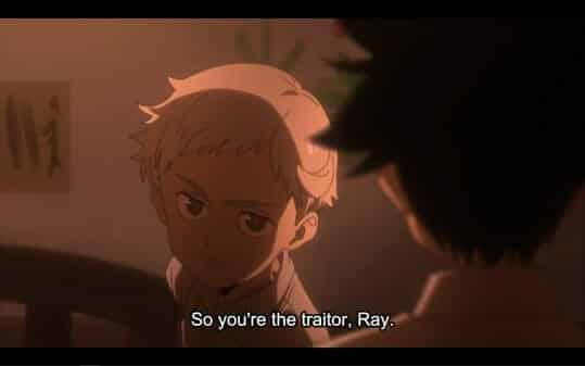 Norman accusing Ray of being the traitor.