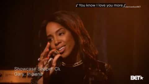 Gladys Knight (Kelly Rowland) singing I Heard It Through The Grapevine