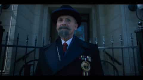 Reginald (Colm Feore) as the children arrive to his home.