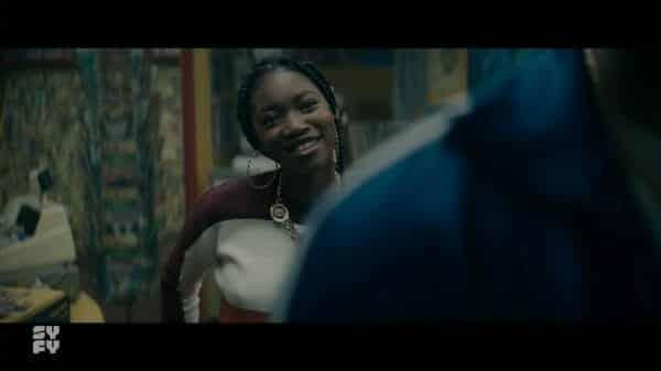 Gabrielle (Kelcey Mawema) smiling.