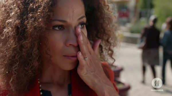 Lena (Sherri Saum) after someone spits in her face.