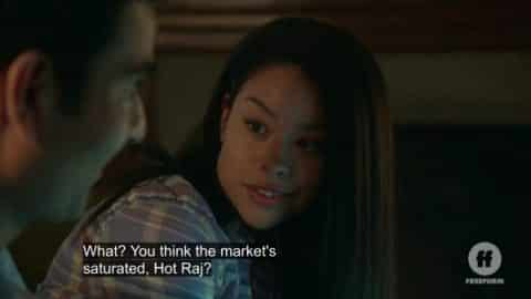 Mariana trying to boost Raj's confidence.