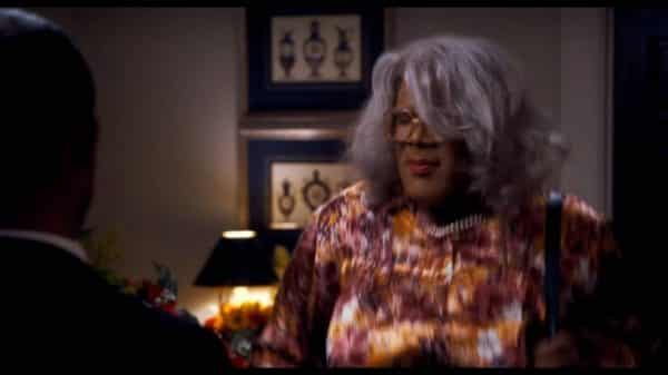 Madea (Tyler Perry) with her hair messed up.