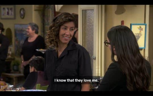 Pilar (Stephanie Beatriz) explaining why it is fine with her that the family is kind of weird about her being married to a woman.