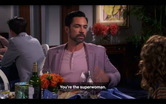 Tito (Danny Pino) telling Penelope why he wasn't around before.