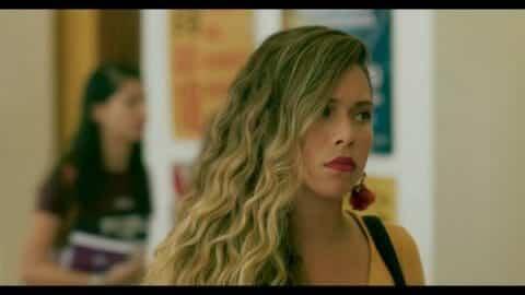 Alicia (Sofia Araujo) leaving class.