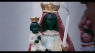 A crying Black Virgin Mary.