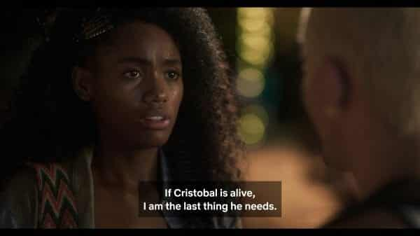 Carmen convincing herself to move on from Cristobal so he can live.