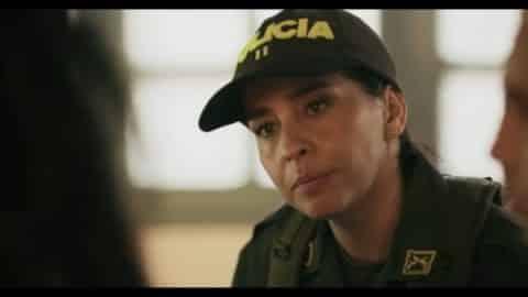 Sandra Lima (Diana Angel) talking to Carmen and Johnny.