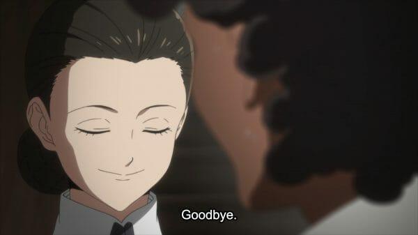Isabella saying goodbye to Sister Krone.