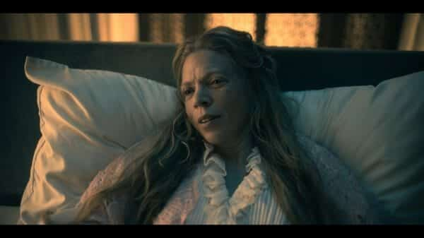 Abigail (Liisa Repo-Martell) as she lays dying.