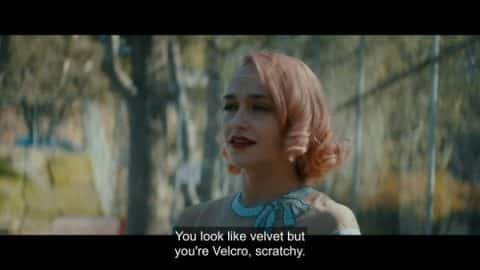 Nick saying Andrea (Jemima Kirke) looks like velvet but is as scratchy as Velcro.