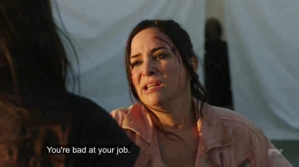 Sam telling off Nikki.