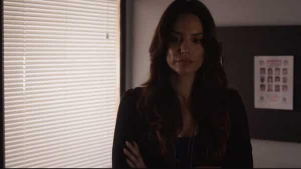 Miriam (Leticia Jimenez) during Jimmy's interrogation.