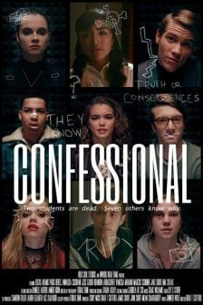 Confessional Poster featuring the cast of the movie.