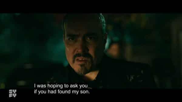 Diablo seeing Marcus holding Chico's head.