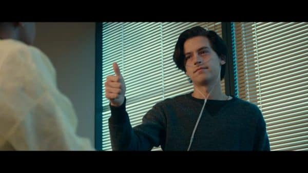 Will (Cole Sprouse) giving the thumbs up.