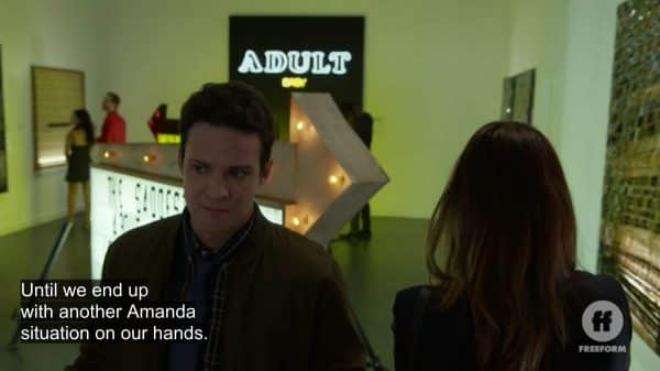 Josh referring to someone named Amanda who Evan was interested in previously.