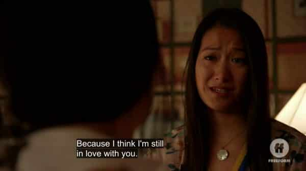 Sumi confessing she still loves Alice.