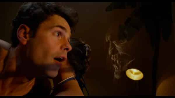 Tanner (Jayson Blair) coming face to face with the house demon.