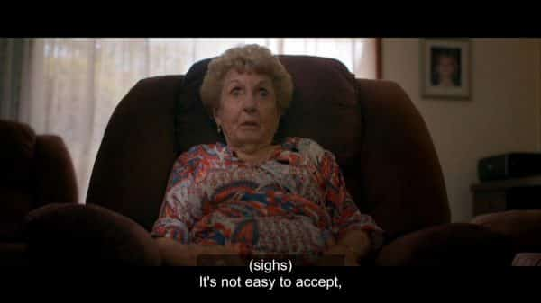"""It's not easy to accept."" being said by Wade's grandmother."