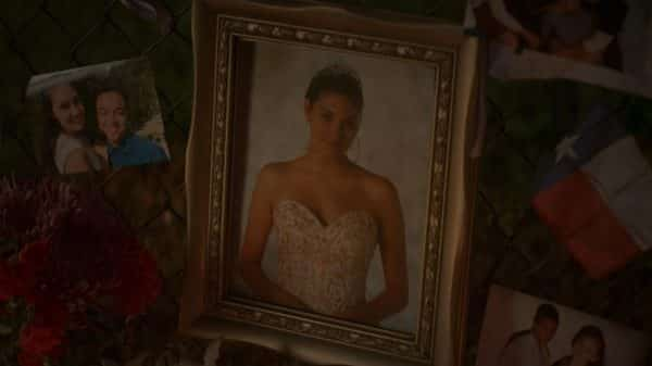 A picture of Olivia at her memorial.