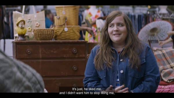 Annie (Aidy Bryant) explaining why she put up with Ryan and his BS.