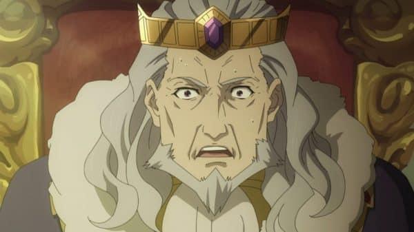King Aultcray (Nakano Yutaka) shocked by what Naofumi said to him.